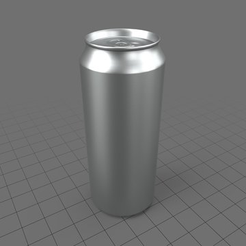 Tall closed soda can