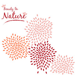 Petle Flower Wall Decal Sticker Vector Illustration
