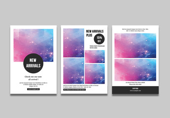 3 Minimalist Photography Flyer Layouts