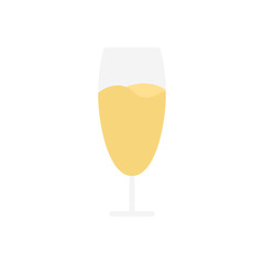 Champagne alcohol beverage flat icon vector
