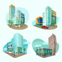 Set of cityscape icons