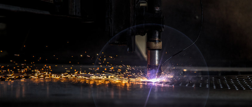 cut plate laser machine cnc spark