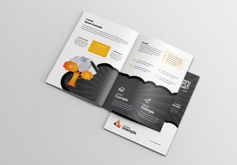 Brochure Layout with Tree Illustration