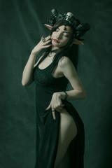 Horned seductive girl