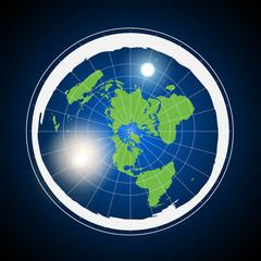 Flat Earth Illustration