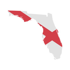 Wall Mural - Florida map icon. Vector illustration