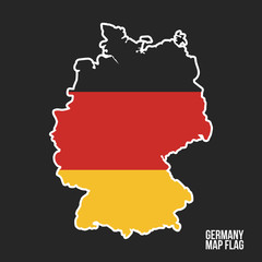 Wall Mural - Germany map icon. Vector illustration