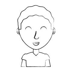 cartoon man icon over white background, vector illustration