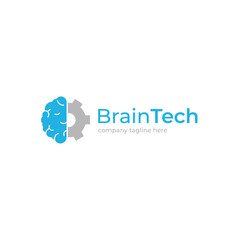 Brain creative logo. Logotype concept. Education and human mind