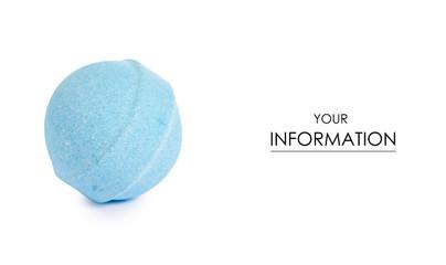 Blue bomb for bath pattern