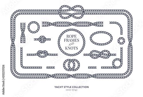 nautical rope knots and frames fotolia com の ストック画像と