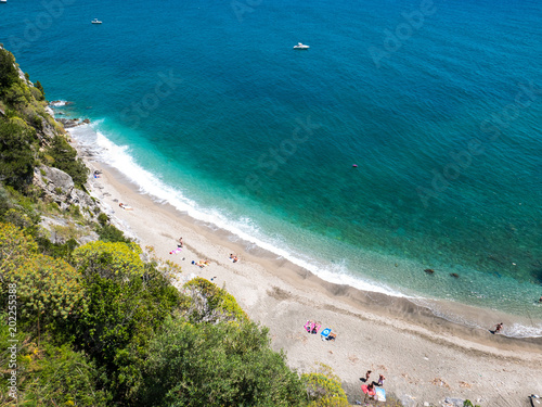 Amalfi Coast Naples Italy Abstract Aerial View Of A Secret Beach With