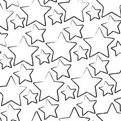 stars background, sketch design. vector illustration