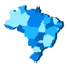Political map of Brazil