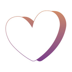 heart icon over white background, colorful design. vector illustratration