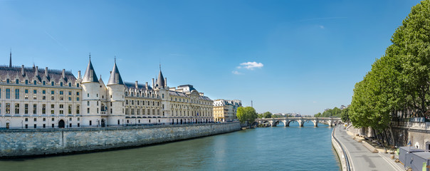 Panorama of Castle Conciergerie - former royal palace and prison. Conciergerie located on the west...