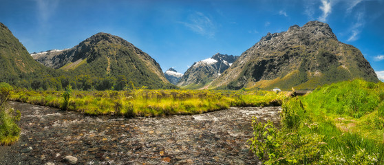 Gertrude Valley Lookout on the way to Milford Sound in Fiordland National Park, New Zealand.