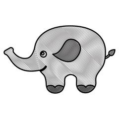 cute baby elephant animal image vector illustration drawing