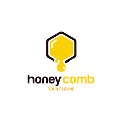 honey comb logo design template