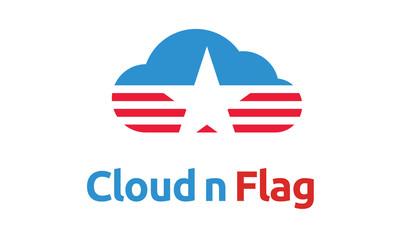 flag and cloud logo design inspiration