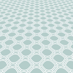 Modern vector pattern. Geometric abstract texture. Graphic light blue and white geometric background with perspective pattern