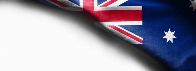 Australian flag on a white background