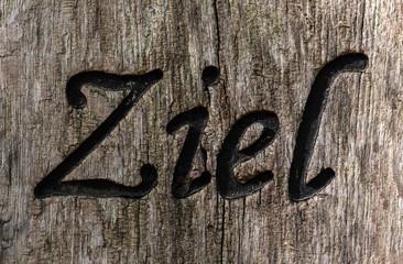 Ziel Holzschild mit Gravur