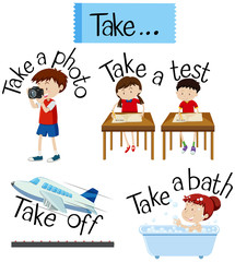 Vocabulary Card with word Take
