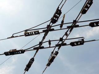 tramway network wire  crossing