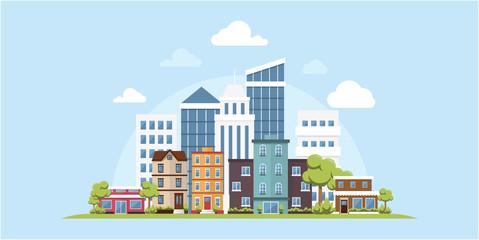 Green Ecology Modern City Urban Landscape Friendly Environment Vector Inspiration Skyline Buildings Architecture Banner Web