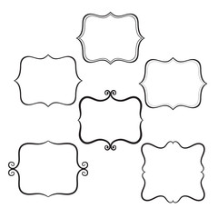 Vector decorative frames.