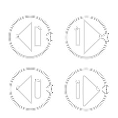arrow icon sign vector collection set isolated background
