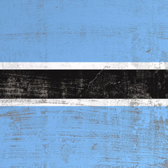 Scratched Botswana flag