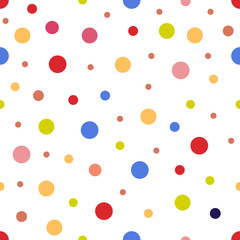 Seamless pattern of multicolored circles
