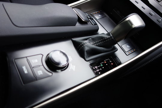 Center console and shift lever of Luxury car