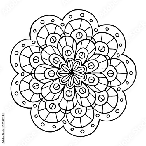 Mandala Ausmalbild Stock Image And Royalty Free Vector