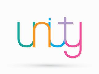 Unity text design graphic vector