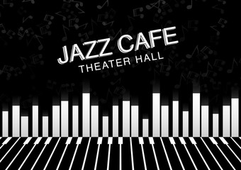 Artistic jazz night background. Poster for the jazz festival