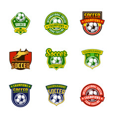 football soccer logo badge design, sport logo