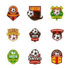 football soccer logo badge design, sport logo
