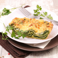 lasagne with spinach and cream