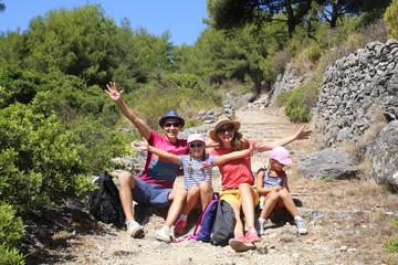 family in travel