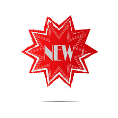 new star burst sticker label banner badge stamp button sale illustration vector