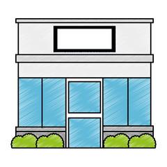 store building front facade vector illustration design