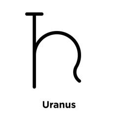 Uranus icon isolated on white background