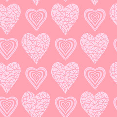 Hearts seamless abstract