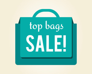 Top Bags Sale Colorful Icon Vector Illustration