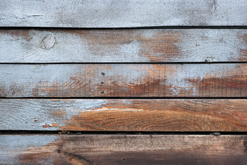 Wood texture. Background of wooden painted boards. Old wooden boards