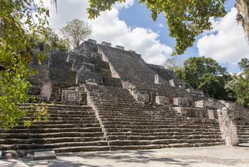 Calakmul, Pyramiden, Maya, Mayakultur, Mayastätte, Ruine, Tempel, Dschungel, Wald, Yucatan, Mexiko