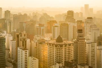 Panoramic view of Sao Paulo, Brazil, South America